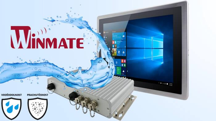 Plně kryté IP65 počítače a displeje značky Winmate vhodné do mokrého prostředí